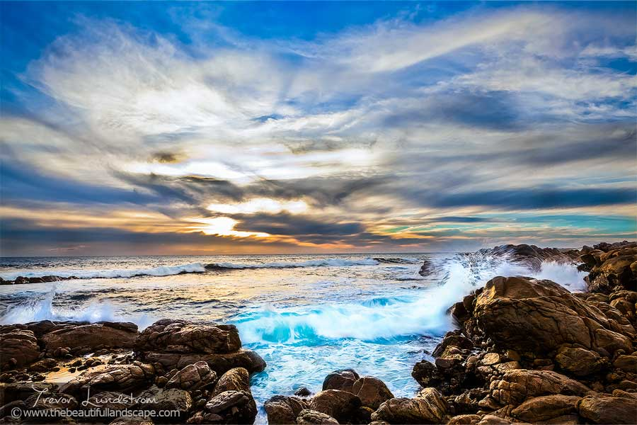A rocky section of coastline in the Leeuwin Naturaliste National Park, Western Australia