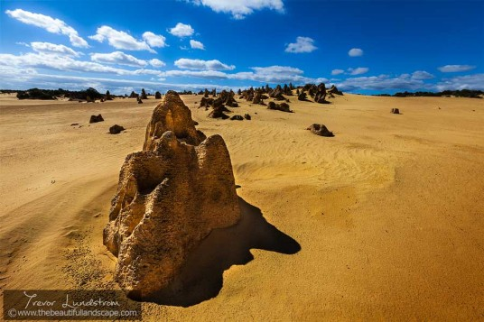 Just one of the many pinnacles in the Nambung National Park in Western Australia